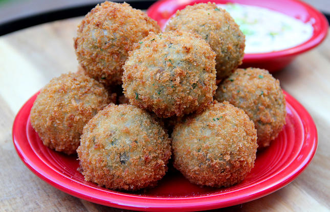 Get this recipe for Boudin balls which are a classic Louisiana Cajun Dish