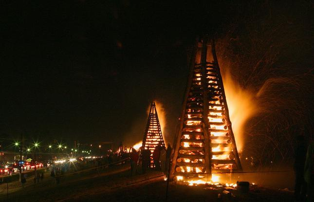 Christmas Bonfires in St. James Parish