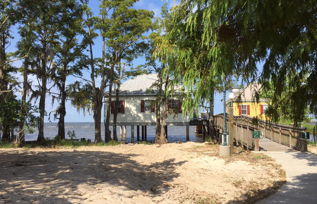 Cabins at Fontainebleau State Park in Northshore Louisiana