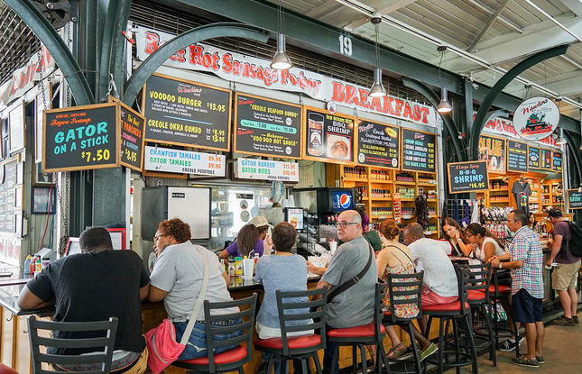 French Market in New Orleans Food Options