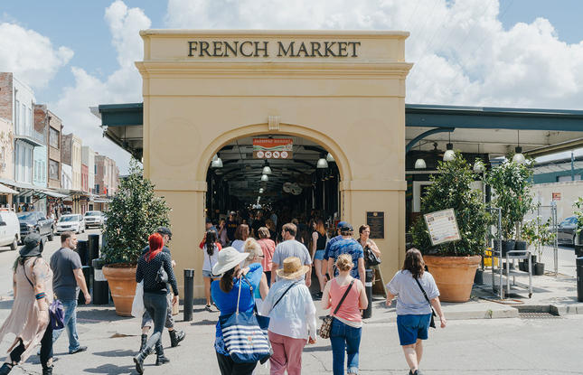 New Orleans historic French Market