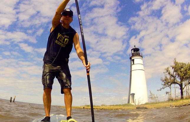 Stand Up Paddleboarding on the Northshore of Louisiana