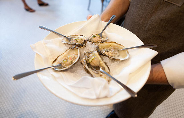 Oysters from Oxlot 9 restaurant in Covington, Louisiana