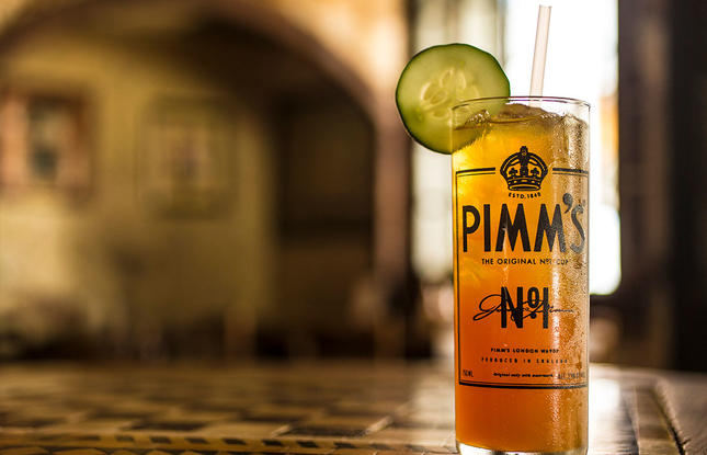 Pimm's Cup from Napoleon House in New Orleans