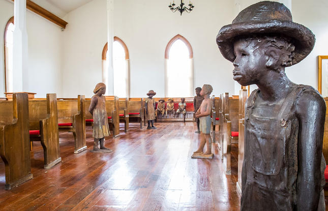 Discover the historic church at Whitney Plantation