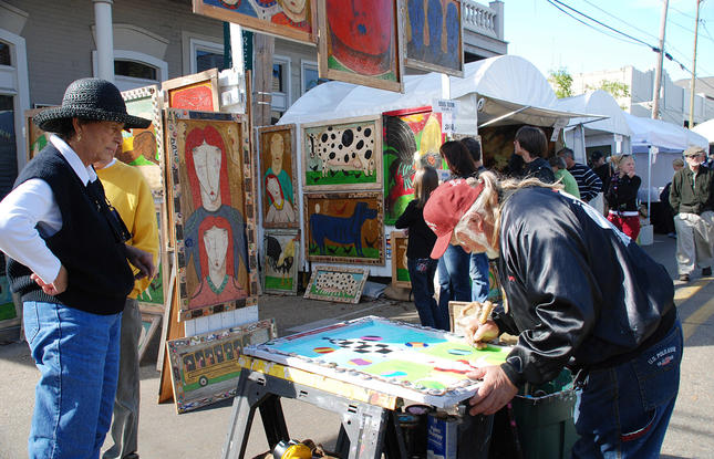 Three Rivers Art Festival on Columbia Street in Covington