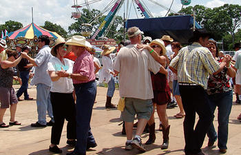 Festival Dancing in Louisiana