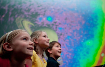 Kids at the Planetarium at the Louisiana Art and Science Museum
