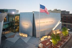 The National WWII Museum's Founders Plaza creates an impressive entryway to the Museum six- acre campus Photo