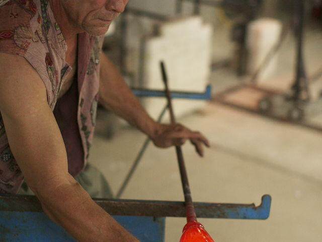 Watch our master glassblower at work!