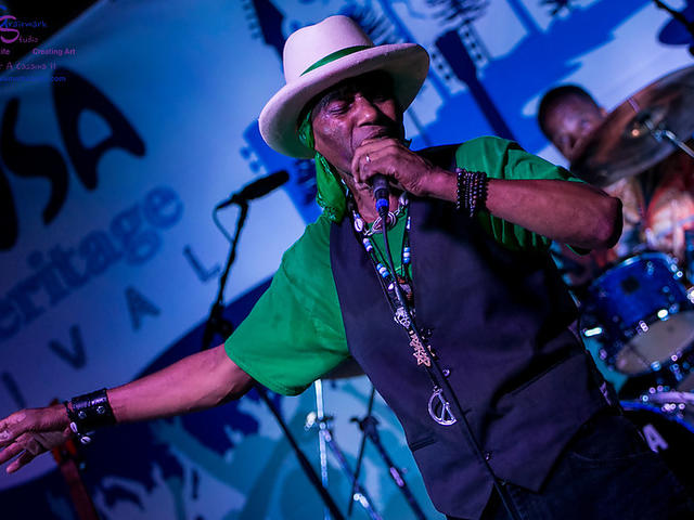Cyril Neville performs at Bogalusa Blues Festival