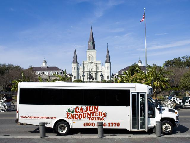 Pickup service provided throughout the downtown New Orleans area for all tours.