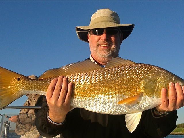 Ron with a big Buras Redfish