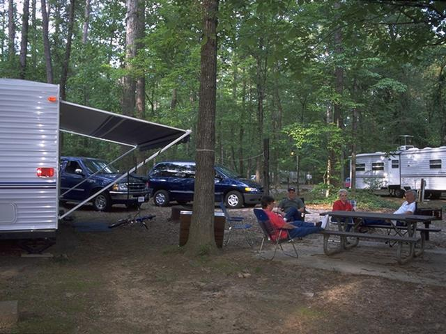 RV Camping at Chemin-A-Haut SP.