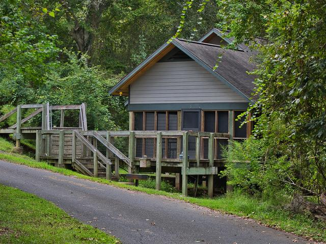 Lakefront cabin at Chicot State Park Photo