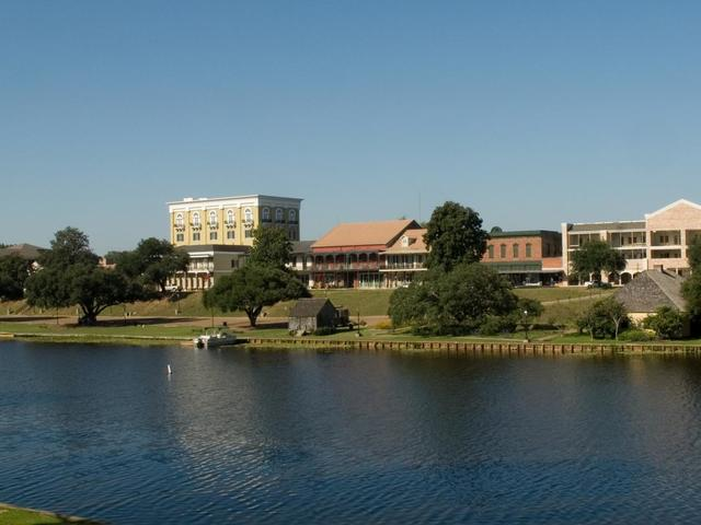 A view of Cane River Lake and the Natchitoches Historic District.