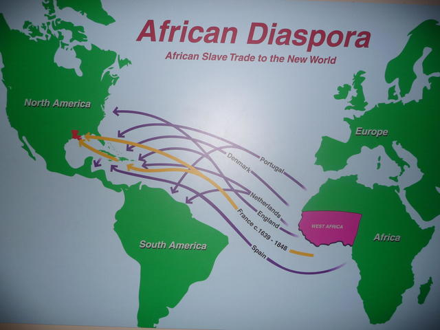 The African American Museum begin its story with the Diaspora of the African people forced into slavery.