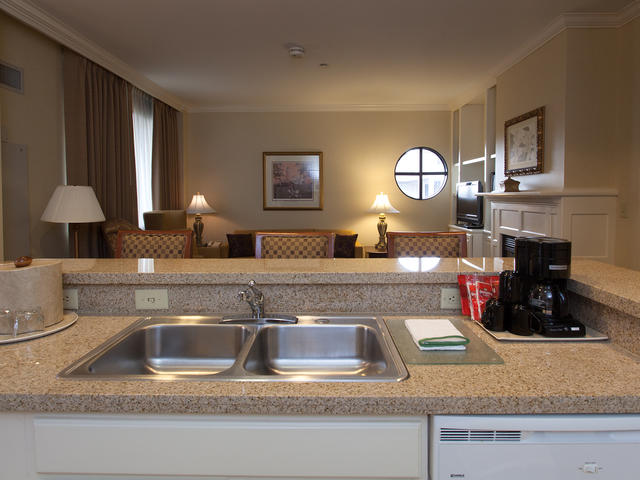 All suites feature full kitchens and spacious living areas