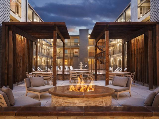 Veranda Seating with Evening Fire Pit