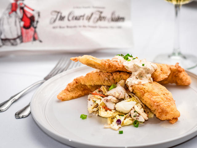 La. Catfish with Jumbo Lump Crabmeat