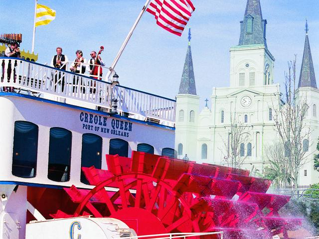 Passing the St. Louis Cathedral