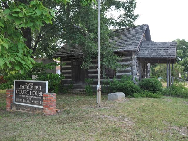 Log Courthouse - last of the state's log courthouses