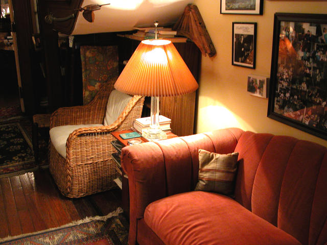 Your own little nook to curl up, read a book, enjoy the art, and experience the spirits of an 1870 house