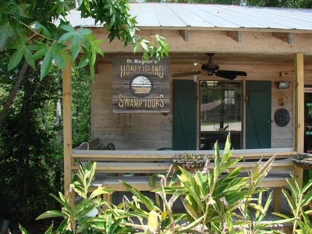 Gift shop overlooking the Cypress Swamp