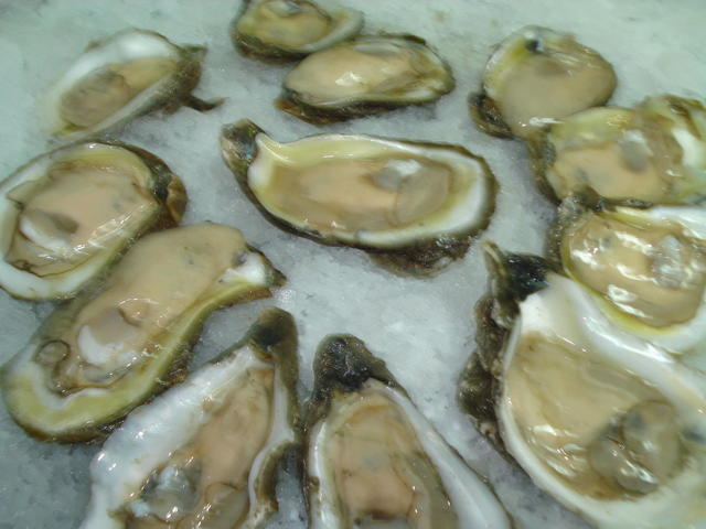 Raw Oysters Served in Season Only