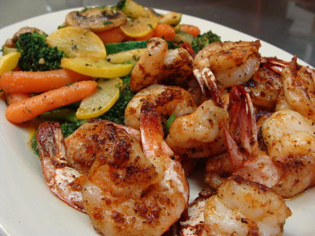 Grilled Shrimp with Sautee'd Veggies