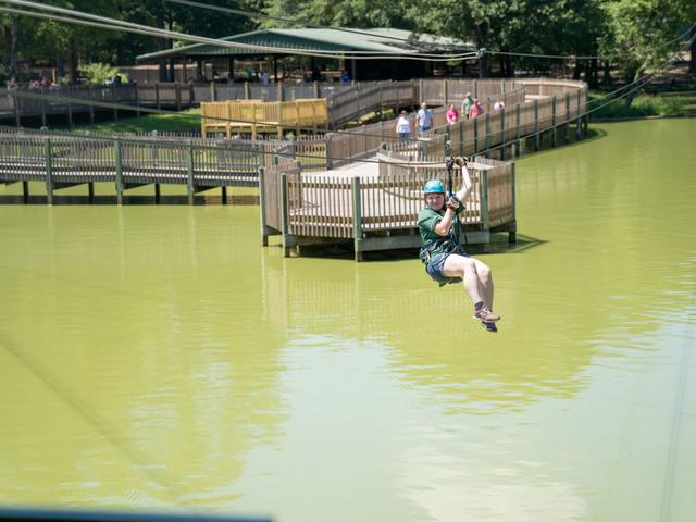 Ziplining at Gators and Friends Adventure Park Photo 3