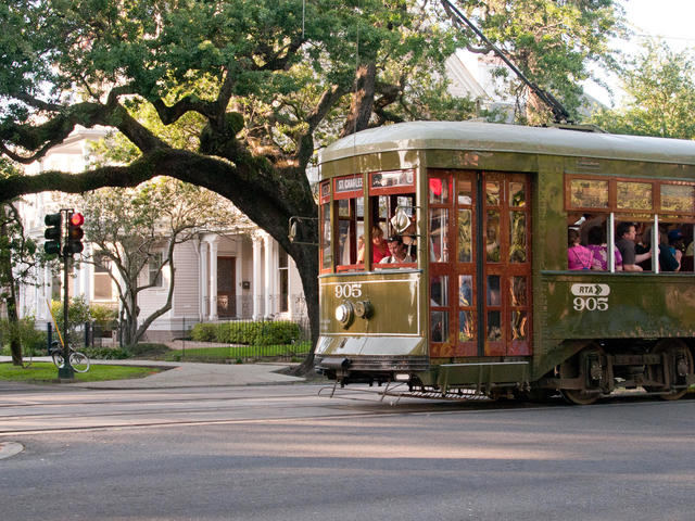 The St. Charles Streetcar stops right outside Photo 2