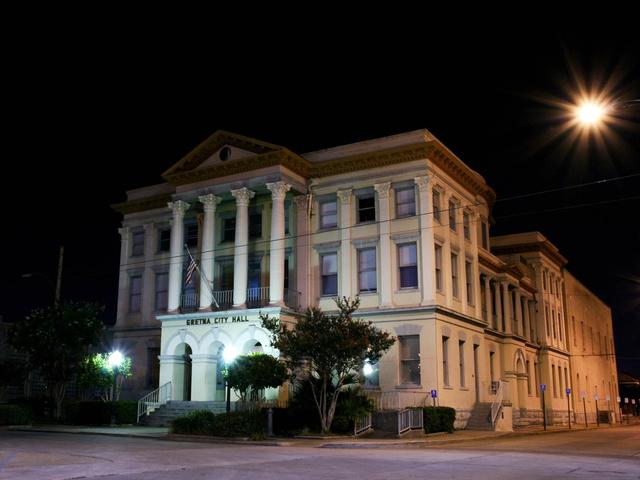 Gretna City Hall at night Photo 2