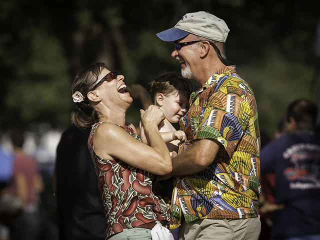 Family dances at Festival Acadiens et Creole.