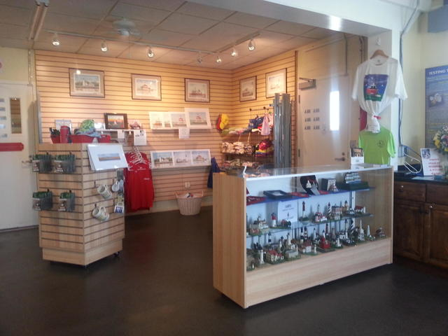 Gift shop ready for visitors.