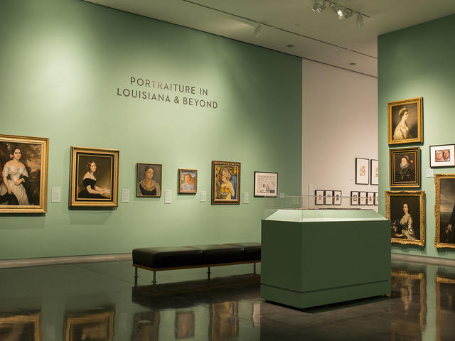 "Portrait gallery in ""Art in Louisiana: Views into the Collection"""