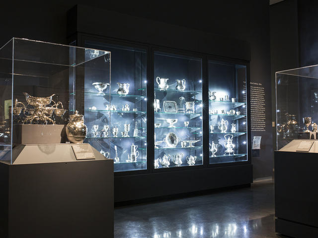 "New Orleans silver gallery in ""Art in Louisiana: Views into the Collection"""