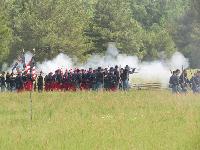 Union Volley During the 150th Anniversary Reenactment Photo 3
