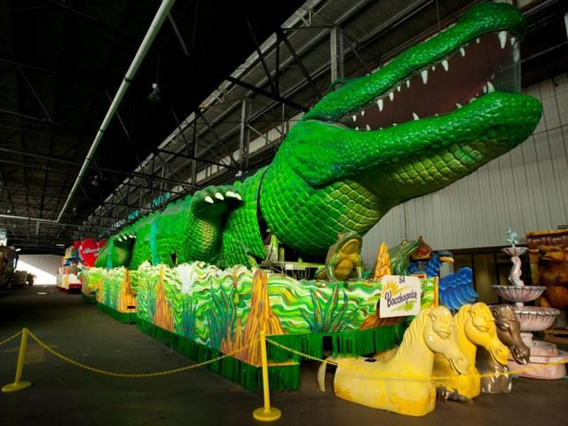 Come see some of our famous signature floats for Mardi Gras!