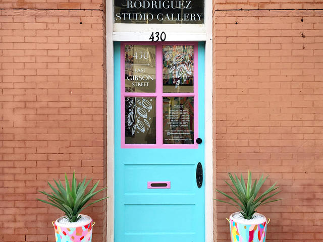 The lovely front door to our gallery :)