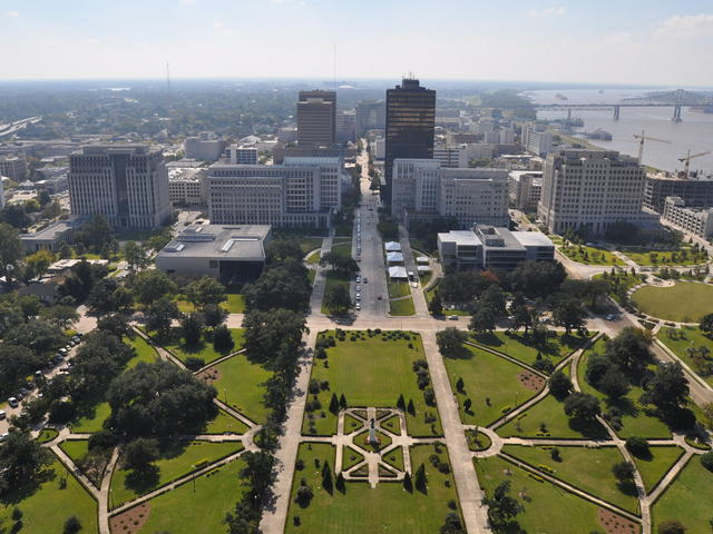 View of Baton Rouge from Louisiana State Capitol observation deck Photo 4