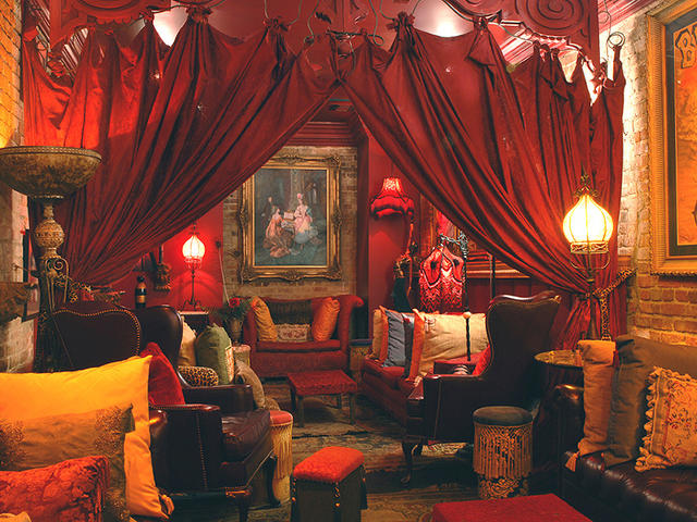 "Come have a cocktail in our ""haunted"" Seance Lounge."