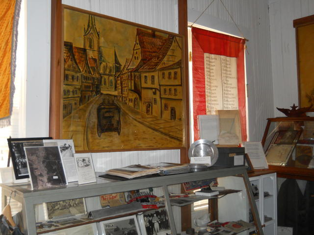 German POW Painting on display in the Section House Photo 5