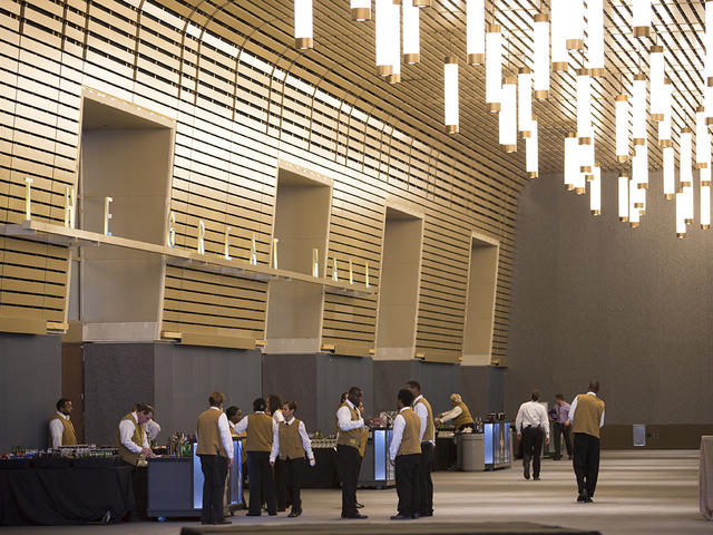 25,000 sq. ft. pre-function area of the Great Hall at New Orleans Ernest N. Morial Convention Center. Photo 3