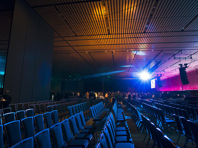 Interior of the 60,300 sq. ft. Great Hall at the New Orleans Ernest N. Morial Convention Center. Photo 4