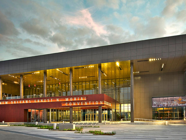 The new exterior entryway and plaza at the New Orleans Ernest N. Morial Convention Center. Photo
