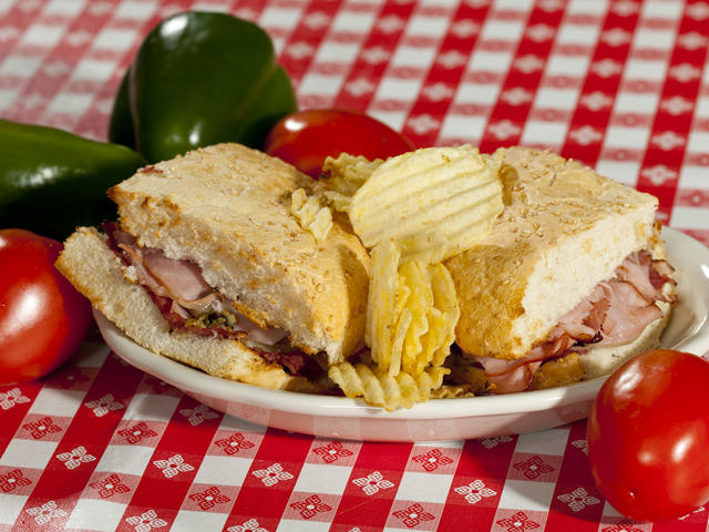 Half Muffuletta with chips Photo 3