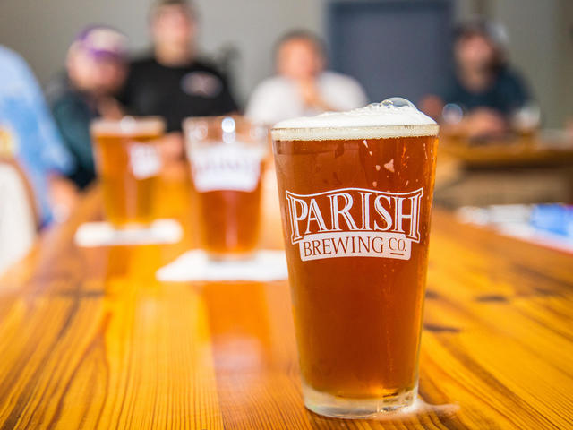 Tasting room at Parish Brewing
