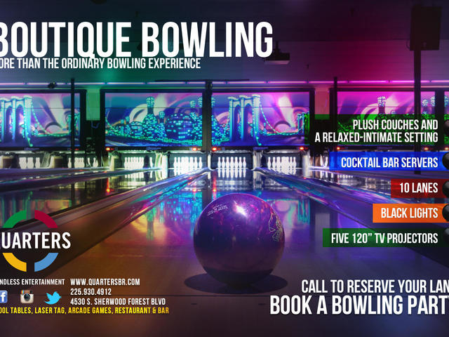 Luxury Bowling for you, your family, and any special group. Photo