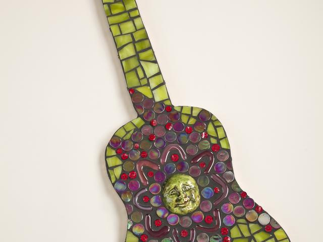 Mosiac Glass Guitar